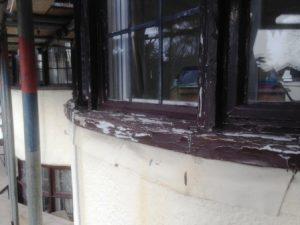 Exterior paint failure on window
