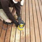 sanding decking